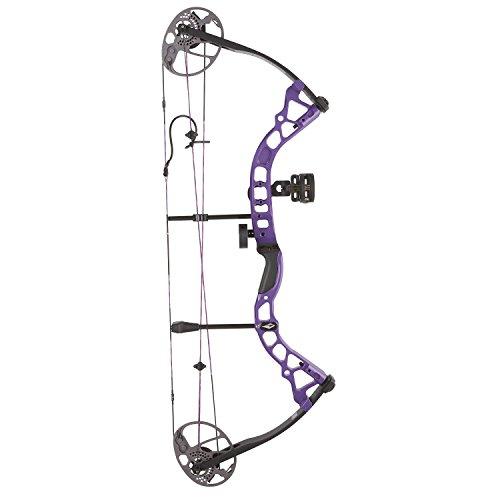 Diamond Archery Prism Left Hand 5-55# Compound Bow, Purple, Left