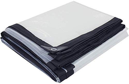 GUOTarpaulin& Glas Klar Tarpaulin Boden-Blatt-Abdeckung Heavy Duty Balkonpflanze Markise Regenschutz Tarp Außen PE Kunststoff mit Tüllen und verstärkten Kanten (Size : 5mX6m)
