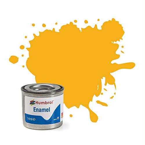 Humbrol 14ML Nr. 1TINLET Emaille Paint 154(Insignia gelb matt)