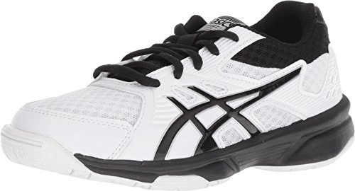 ASICS Kid's Upcourt 3 GS Volleyball Shoes, 3.5M, White/Black