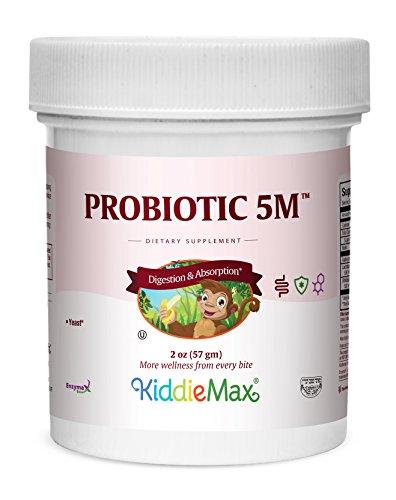 Maxi Health KiddieMax Probiotic 5M - Acidophilus - Healthy Digestive Flora - 2 Ounce Powder - Kosher