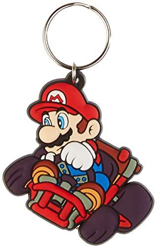 Nintendo Mario Kart - Drift, Schlüsselanhänger aus Gummi, 4.5 x 6 cm Mehrfarbig