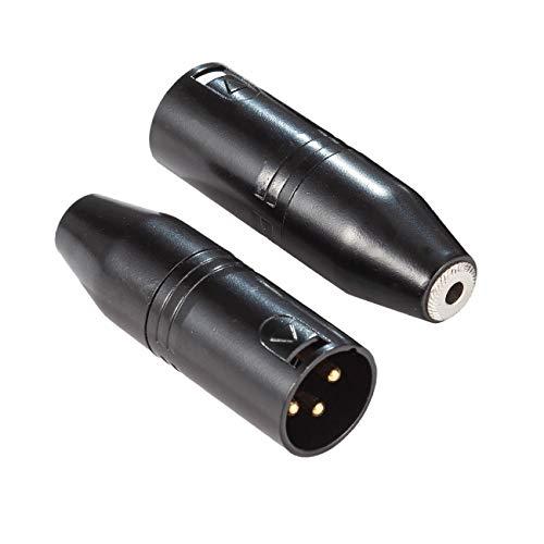 Ancable 3,5 mm auf XLR, 2 Stück 3,5 mm Stereo TRS Mini-Klinken-Buchse auf 3-poligen XLR-Stecker, Mikrofon-Adapter, Audio-Konverter für Camcorder, Recorder, Mixer