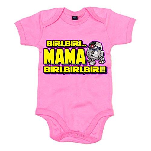 Body bebé parodia del robot de las galaxias para madre frikis - Rosa, Talla única 12 meses