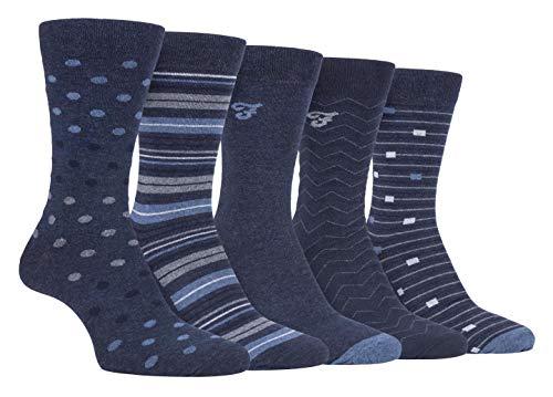 Farah - 5er Pack Herren Bunt Punkte/Uni/Gestreift/Kariert Muster Business Socken (39/45, CS192DENTEL (Polka Dot))