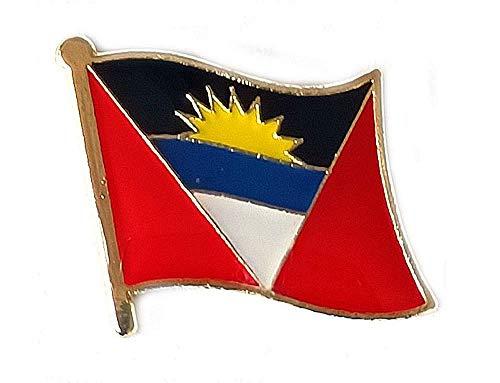 Antigua & Barbuda Flagge, internationale Reise, kleine Anstecknadeln, emailliert, Metall, Souvenir für Hut, Kleidung, Rucksack