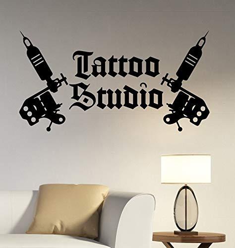 YIYEBAOFU Welkom bij mijn huis muursticker Artstattoo Studio Logo Muursticker tattoo machine vinyl sticker raamdecoratie tattoo sal
