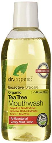Dr. Organic Enjuague Bucal Arbol Del Te Organico 500Ml 1 Unidad 500 g
