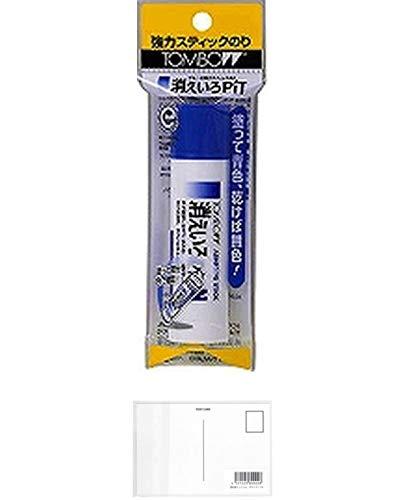 トンボ鉛筆 スティック糊消えいろピットNパック PKPT-NC 【5セット】 + 画材屋ドットコム ポストカードA