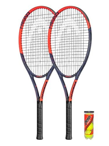HEAD Ti.Reward - Raqueta de tenis de titanio, 2 fundas protectoras y 3 pelotas de tenis