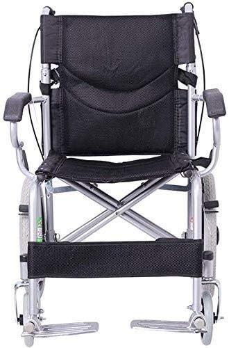 JKCKHA Steel Wheelchair-Folding Portable 5 San Antonio Mall ☆ popular Brak Safety Wheelchair