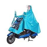 VORCOOL Winddicht Wasserdicht Motorrad Roller Regenmantel Regen Hoodie Mantel Männer Frauen Radfahren Jacke Poncho Regenmantel Umhang mit Doppel Hut Regenmantel Spiegel - Größe XXXL