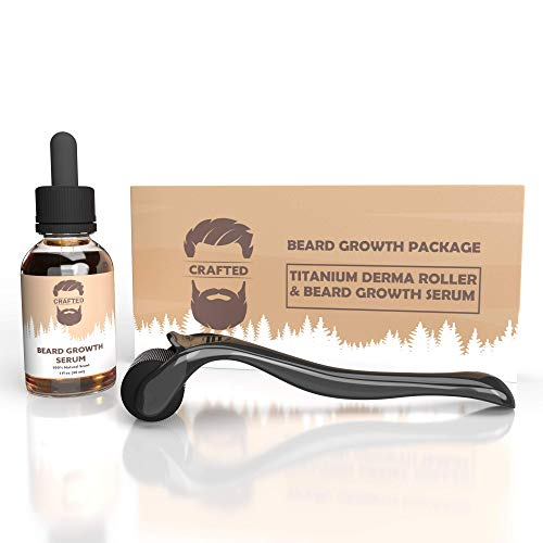 Beard Growth Kit - Derma Roller for Beard Growth and Beard Growth Serum - Stimulate Beard and Hair Growth - Derma Roller for Men - Beard Roller - Amazing Beard Growth Kit