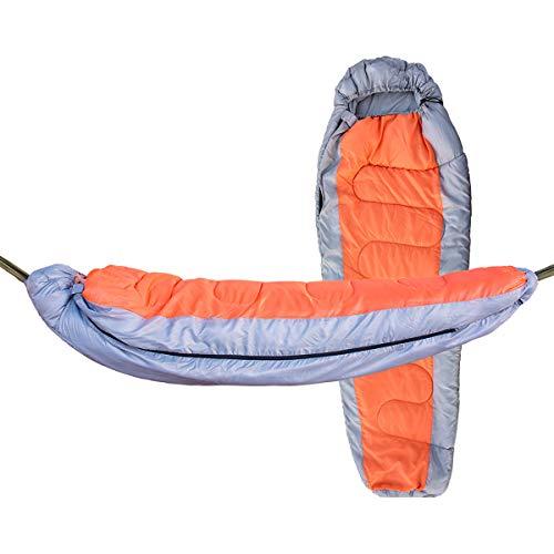 FIZZENN Camping Hangmat Slaapzak Hangmat Slaapzak, Set van 2, 1 ST Mummy Slaapzak en 1 ST Nylon Parachute Hangmat, Enkel, Lente/Herfst van toepassing