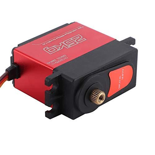 Alomejor Digital Servo 4.8-7.4V 25KG for RC Car Toys Accessories Parts for 1:8/1:10 RC Car Boat Upgrade