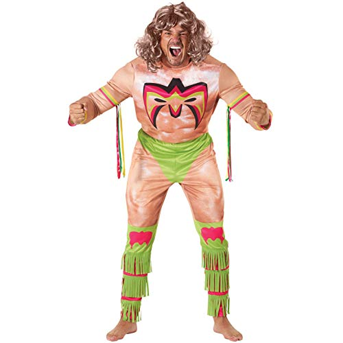 Morph Licensed Classic WWE Ultimate Warrior Adults Halloween Costume - X-Large