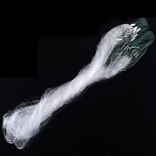 Fishing Net, Nylon Monofilament Gill Net with Float Fish Trap for Saltwater Shoal Fishing Lovers 1m x 20m (3 Fingers)