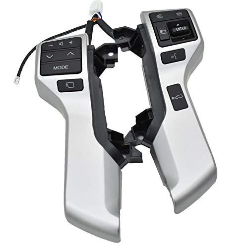 ADFIOSDO Interruttore di Controllo del Volante Interruttore Multifunzione Bluetooth Audio Interruttore di Controllo Audio/Adatto per Toy.OTA Land Cruiser Prado 84250-60180 (Color : 84250 60180)