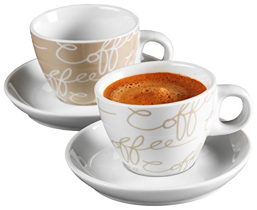 Ritzenhoff & Breker Espresso-Set Cornello, 4-teilig, Creme, 80ml