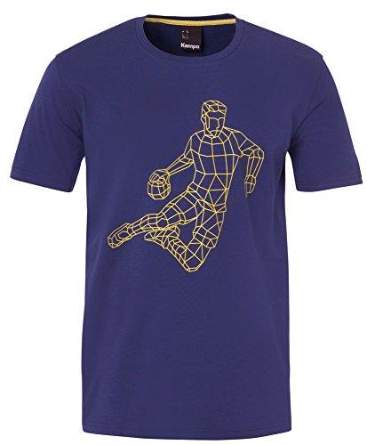 FanSport24 Kempa Handball Polygon Player T-Shirt Herren Baumwolle dunkelblau Größe XL
