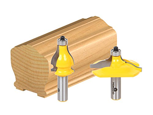 Yonico 18231 2 Bit Handrail Router Bit Set with Classical Ogee/Bead 1/2-Inch Shank