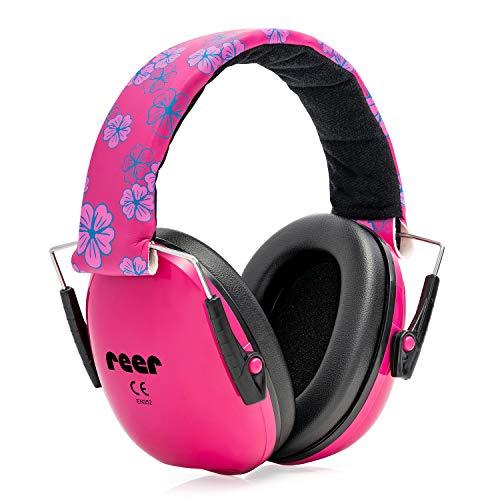 Reer - Protezione per l'udito pieghevole per bambine, rosa, taglia unica