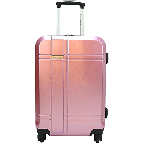 Isaac Mizrahi Conway 25' Expandable Hardside Checked Spinner Luggage (Pink)