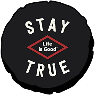 Life is good Tire Cover Stay True Tire Cover (Night Black)