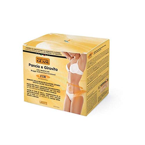 GUAM Anti Cellulite Stomach Wrap with Infrared Heat - Tummy Control Wrap - Natural Cellulite Treatment - Seaweed Mud Slimming Body Wrap - 1.1 LB Jar - By Guam Beauty