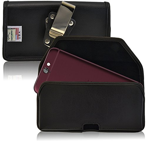 TURTLEBACK Belt Case made for HTC One A9 Black Holster Leather Pouch with...
