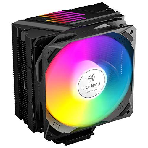 upHere Ventola per CPU, Compatibili con Intel e AMD Ventola da 120mm LED ARGB PWM Ventola, LGA 1151/1150/1155/1156/1200/MA4,N1055ARGB