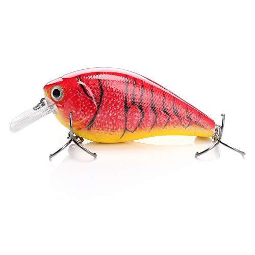 FBXYL 1 Pc Vissen lokken drijvende Crankbait Plastic lokken Minnow 14.5G 7Cm Kunstmatige Vissen lokken levensechte Krukas Hard lokken