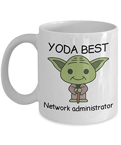 aza de regalo novedosa para fanáticos de Star Wars, mejor administrador de red de Yoda, regalo de cumpleaños para compañeros de trabajo, aniversario, San Valentín, ocasión especial, papás, mamás, fami