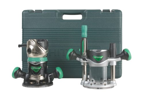 Hitachi KM12VC 2-1/4 Peak HP Variable Speed Fixed/Plunge Base Router...