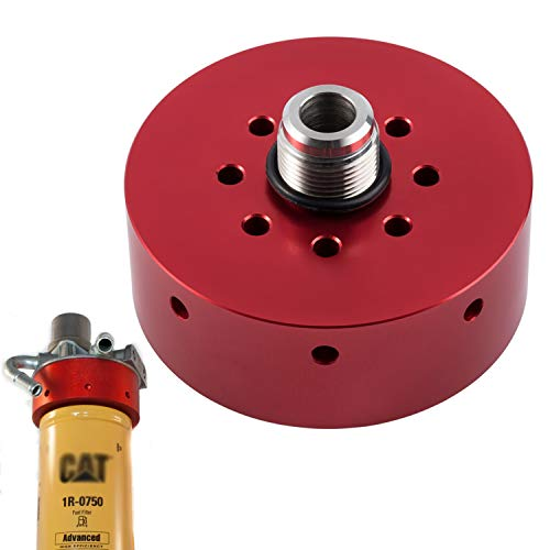 Fuel Filter Adapter for Chevy/GMC 2001 - 2016 Duramax Diesel & CAT 1R-0750 (RED)