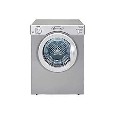 White Knight C39AS 3.5kg Compact 2 Temps Vented Tumble Dryer with Timer in Silver