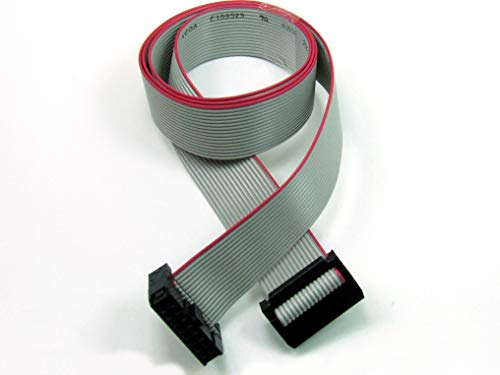 POPESQ® - IDC Kabel/Cable 14 polig (2X 7) cca. 50 cm / 0.5 m lang/Long, Flachbandkabel Ribbon #A1312
