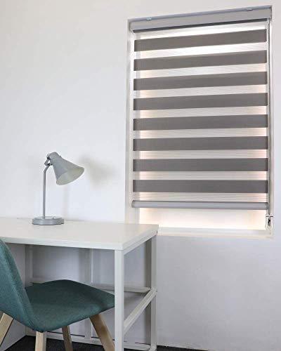 TAKIBLIND オーダーメイド 調光 ロールスクリーン (0.5cm単位 サイズ指定無料) ロール カーテン ブラインド W170 x H120(cm), Aグレー)