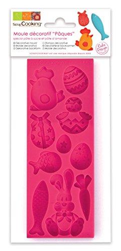 Scrapcooking 3446 Pâques Moule Pâte Silicone Rose 21,7 x 9,5 x 0,8 cm