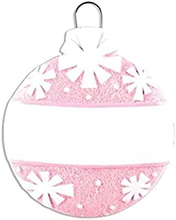 Grantwood Technology Personalized Christmas Ornaments Baby's First- Pink Christmas Ball Bulb