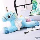 Rainbow Unicorn Doll Poney Peluche Jouet Fille Fille Grande Poupée Mignon Lit Rose Ragdoll Bleu Long Environ 1 mètre