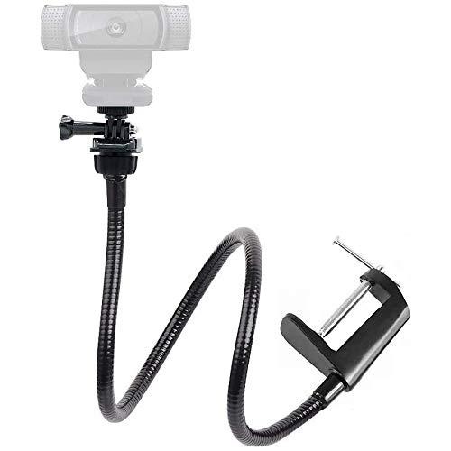 Webcam Halterung für Live Stream,64cm Klemme Tisch Halter,Webcam ständer für Logitech Webcam c925e, C922 X, C930e, C922, C930, C920, C615, für GoPro Hero 8/7/6/5, Arlo Ultra/Pro/Pro 2/Pro 3/Brio 4 K