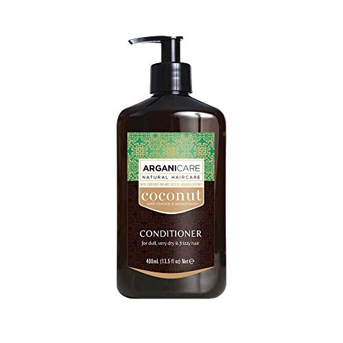 Arganicare Moisturizing Coconut Conditioner with Certified Argan and Coconut Oils for dull, very dry and frizzy hair 13.5 fl oz