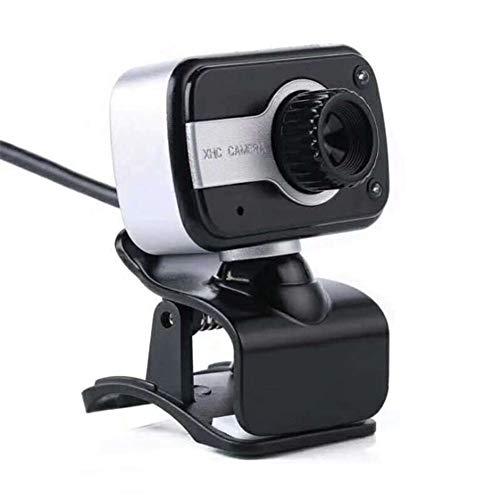 ZHAN Webcam, Camerahd Clip 480P USB-Computerkamera HD Computer Videokamera Test-Video Mit Eingebautem Mikrofon,Silber