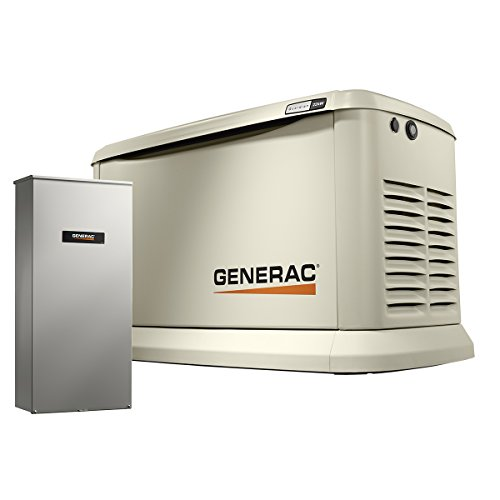 Generac 7043 Home Standby Generator 22kW/19.5kW Air Cooled with Whole House 200 Amp Transfer...