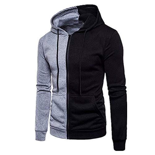 Herren Hoodie Jacke Herren Hoody reißverschluss Hoodie Zip Sweatshirt Full-Zip Sportswear Herren Jacke übergangsjacke Contrast Color Jacket 2020 Neue Fashion Tops Coat L