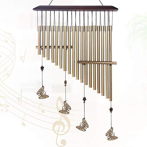 Idefair Campanas de Viento,Campanas de Viento para jardín Sonidos relajantes Campanas de Viento para Exteriores 18 Tubos de Aluminio decoración de Campanas