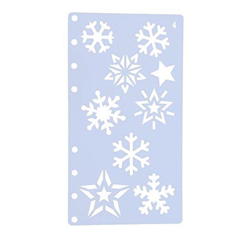 Demiawaking – Schneeflocken-Schablone – für Kinder, zum Basteln, Malen, Dekorieren Snowflakes