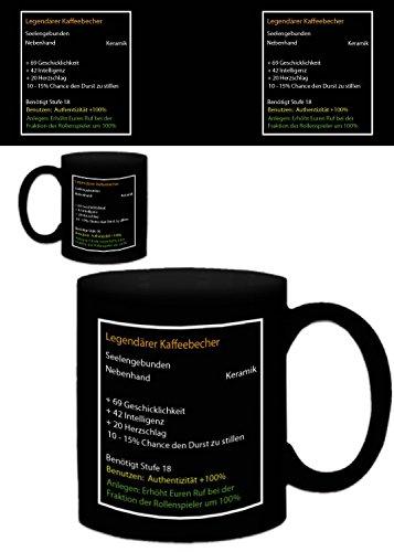 1art1 Gaming, Legendärer Kaffeebecher Foto-Tasse Kaffeetasse (9x8 cm) Inklusive 1x Überraschungs-Sticker