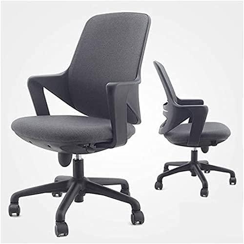 JYHZ Silla de oficina, silla de escritorio, silla de ordenador, tela moderna, respaldo bajo, silla de oficina con altura ajustable, para recepción, comedor, sala de conferencias, (color: A) (color: A)